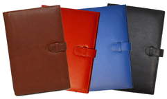 Refillable Leather Journals Covers with Spiral Journals